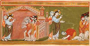 English: Cleansing of the ten lepers