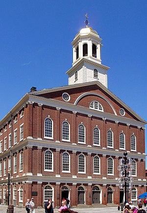 English: Faneuil Hall, Boston, Massachusetts D...