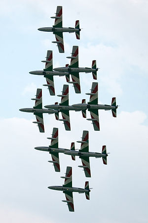 "Frecce Tricolori during ""Air Extreme""..."