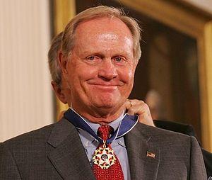 President Bush awarding Nicklaus the President...