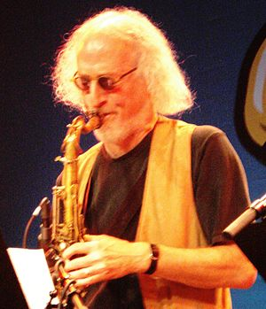 English: Larry Ochs live at Saalfelden 2009 It...