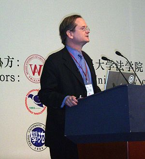 Lawrence Lessig in beijing