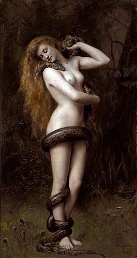 Lilith (1892) by John Collier in Southport Atkinson Art Gallery
