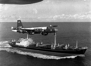 A U.S. Navy Lockheed P-2H Neptune of patrol sq...