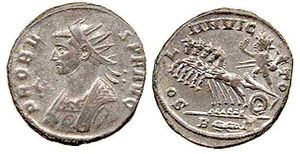 Antoninianus of Probus minted in 280. Depicts ...