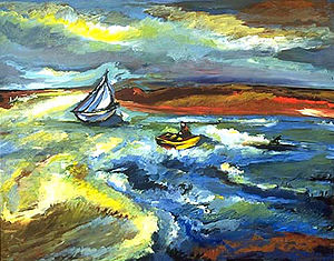 """""""Raging Sea"""" by Lucille Wallenrod, O..."""