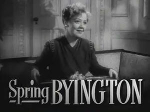 Cropped screenshot of Spring Byington from the...