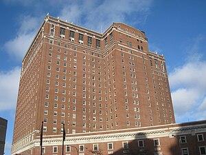 Statler Hotel (back side), Buffalo, New York, USA.