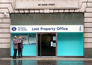 English: TfL lost property office on Baker Street