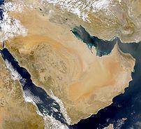 Satelliittikuva Arabian niemimaasta