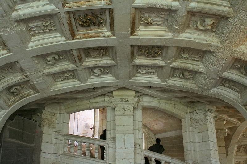 Château de Chambord - voûte et escalier
