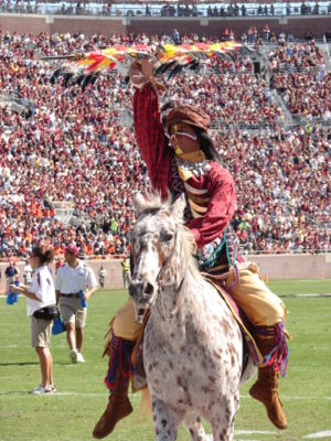 Chief Osceola and Renegade, mascot for Florida...