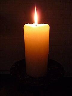 Einzelne Kerze