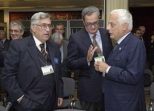 Bank of Italy Governor Antonio Fazio, left, ta...