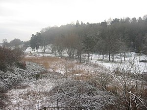 English: Grove Park on Christmas Eve Seen from...