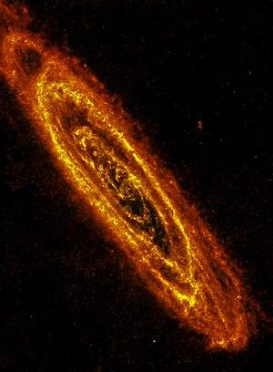 Herschel Image of Andromeda Galaxy