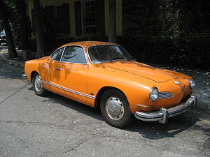 Karmann Ghia seen on street in Faubourg Marign...
