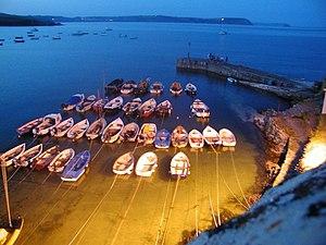 English: Portscatho Harbour Taken on a balmy s...