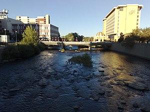 River running through downtown Reno, Nevada