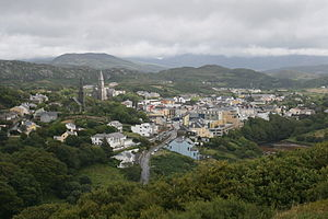 Clifden: view from D'Arcy Monument, County Gal...