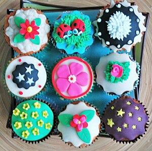 Nederlands: Cupcake Versiering