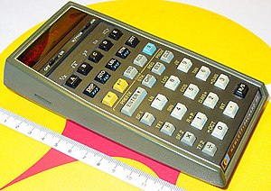 First pocket programmable calculator
