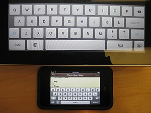 Comparison between the iPad and iPod Touch's K...