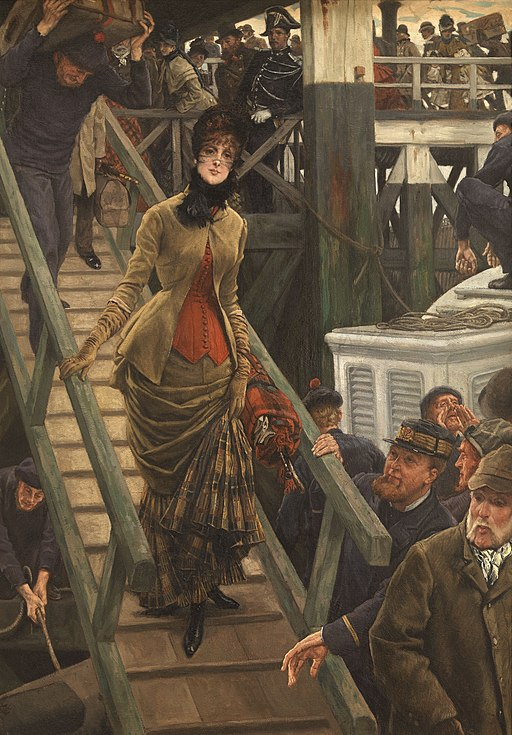 """""""Embarkation in Calais"""" by James Tissot"""