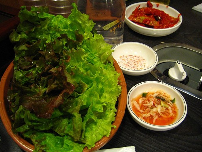 Vegetables for Korean barbeque