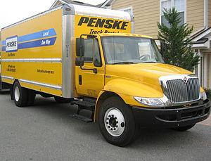 English: A 22 foot Penske rental truck