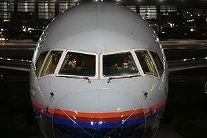 Pilot and Co-pilot go over the pre-flight chec...