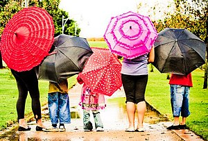April Showers with Preschoolers