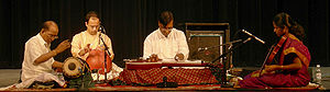 South Indian (Carnatic) musical performance. F...