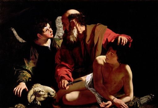 Sacrificio d'Isacco, Michelangelo Merisi da Caravaggio, 1598, olio su tela, 116×173 cm, Collezione privata Piasecka-Johnson, Princeton