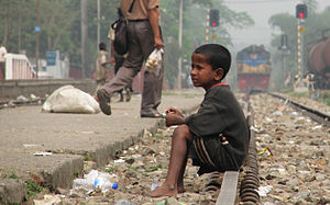 Street Child, Srimangal Railway Station, Srima...