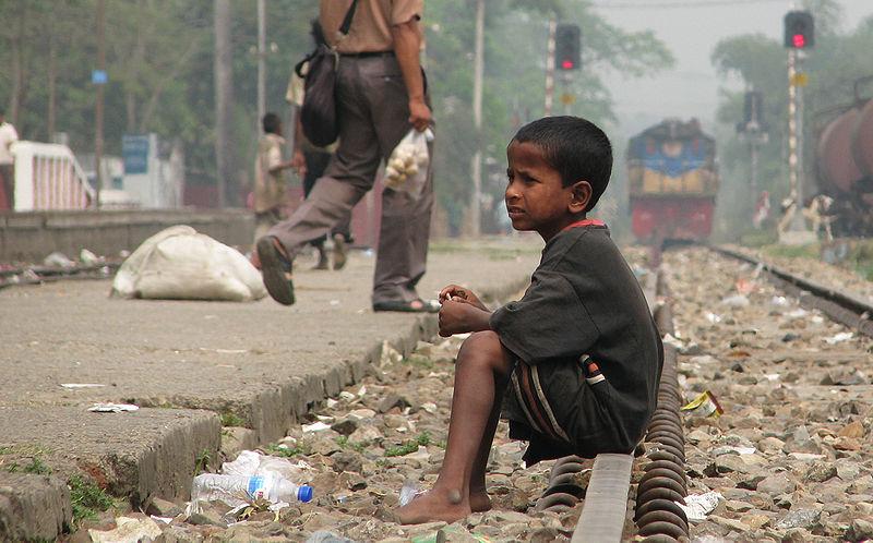 File:Street Child, Srimangal Railway Station.jpg