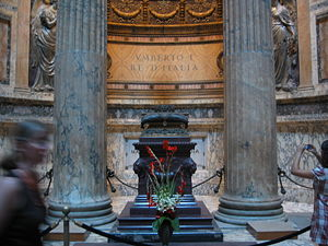 English: An image of the tomb of Umberto I in ...