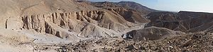 Panorama of the Valley of the Kings. Taken fro...