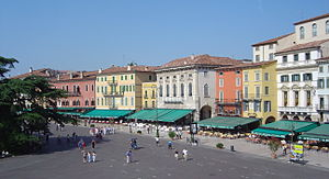 Verona Italy Piazza Bra from arena DSC08039