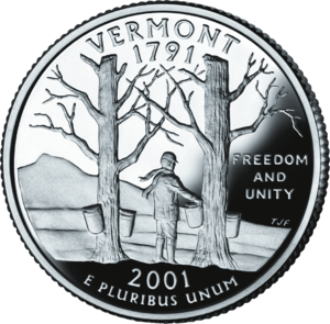 Freedom and Unity, the motto of Vermont on its...