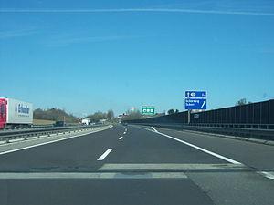 Innkreis Autobahn A8 im Bereich der Anschlusss...