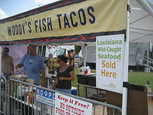 Fish taco stand