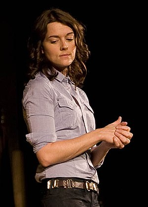English: Brandi Carlile on stage in Maine.