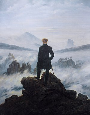El caminante sobre el mar de nubes // Wikipedia