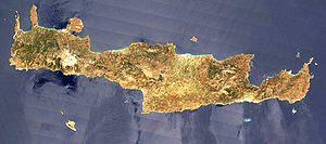 Satellite photo of Crete (NASA)