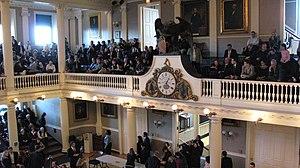 The Great Hall Balcony, Fanueil Hall, Boston MA