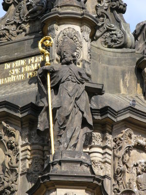 Statue of Saint Blaise on the Holy Trinity Col...