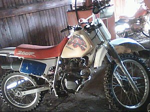 English: Honda dirt bike