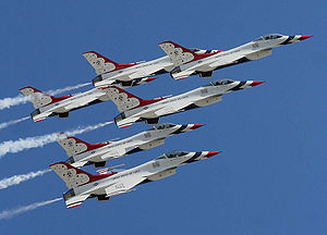 US Air Force Thunderbirds at the dedication of...