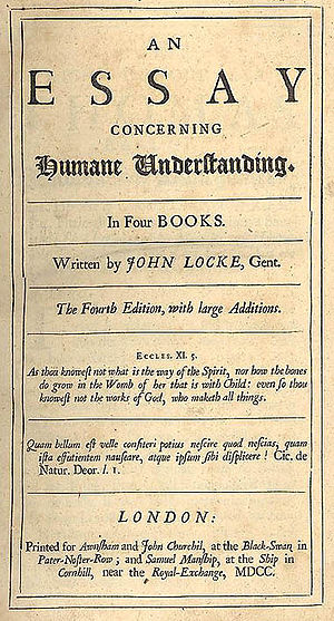 Title page for the fourth edition of John Lock...